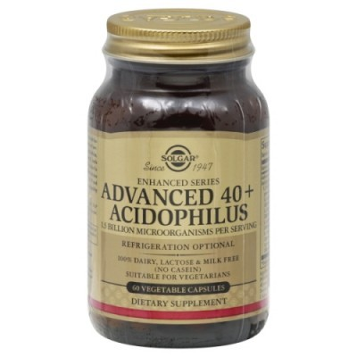 Advanced Acidophilus 40+ 60 Cápsulas Solgar