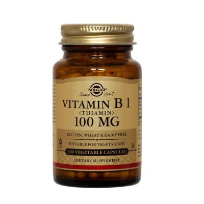 Vitamina B1(Tiamina) 100mg 100 Cápsulas Solgar