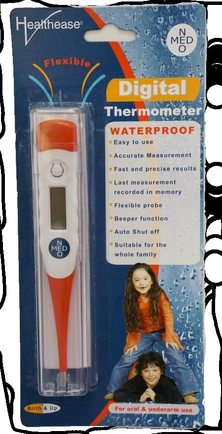 Healthease: Termómetro Digital (À Prova de Água)