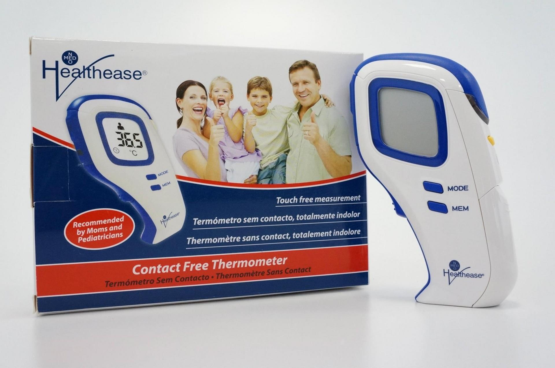 Healthease: Termómetro Digital de Infravermelhos Livre de Contacto