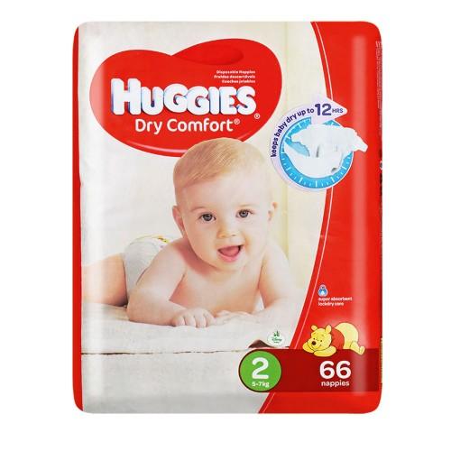 Huggies ® Dry Comfort - Tamanho 2 (5 - 7 Kg), 66 Fraldas