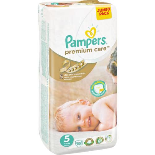 Pampers® Premium Care  Tamanho 5 (11 - 25 Kg), 56 Fraldas
