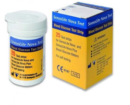 Tiras-Teste SensoLite Nova, 25 uni