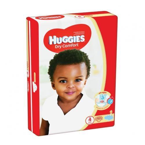 Huggies ® Dry Comfort - Tamanho 4 (8 - 14 Kg), 60 Fraldas