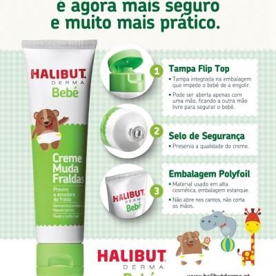 HALIBUT DERMA® Creme muda fraldas