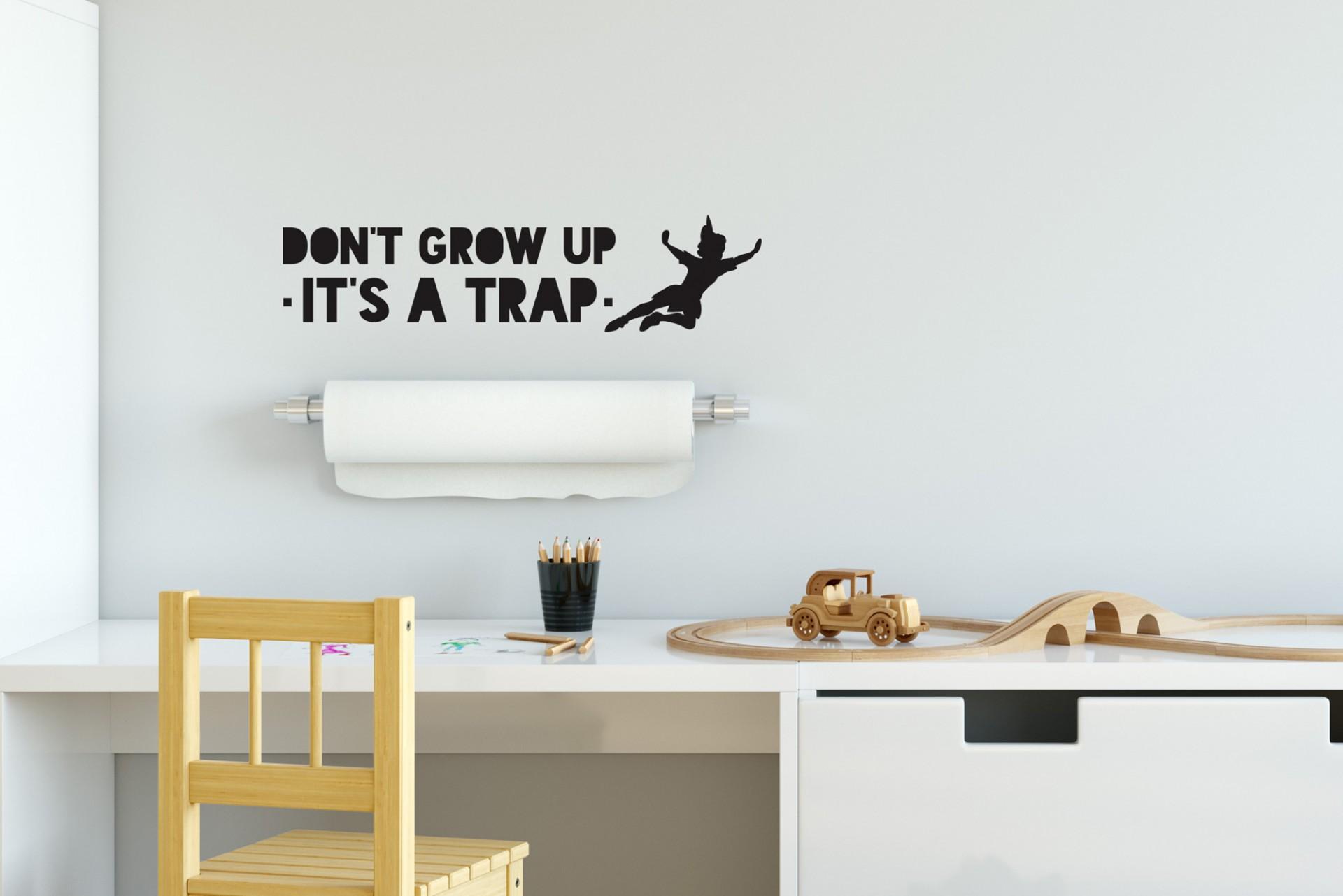 Vinil de parede . Don't grow up