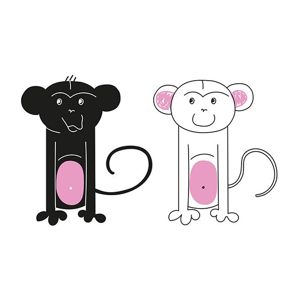 Conjunto de macacos
