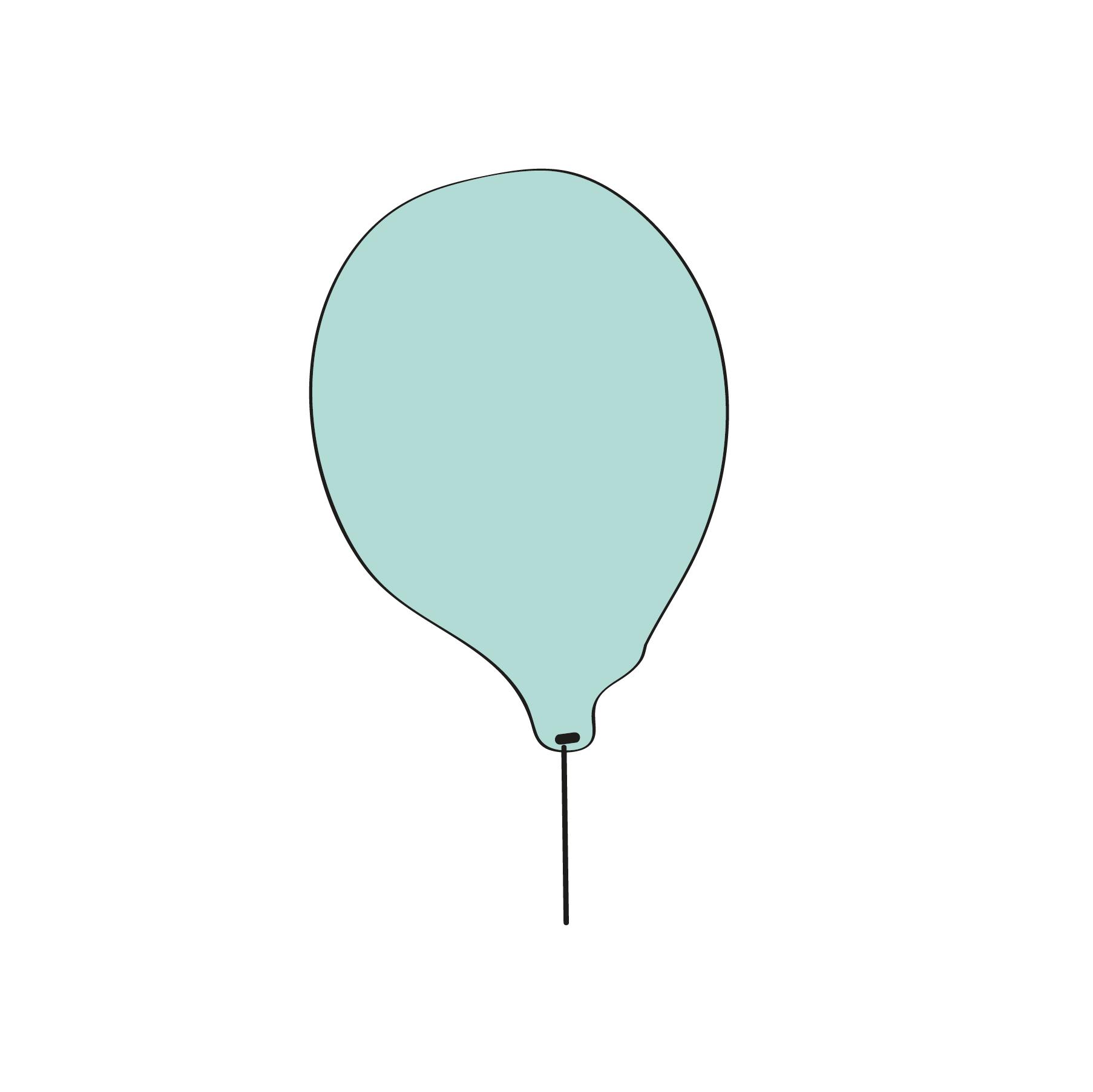 Balão azul princesa