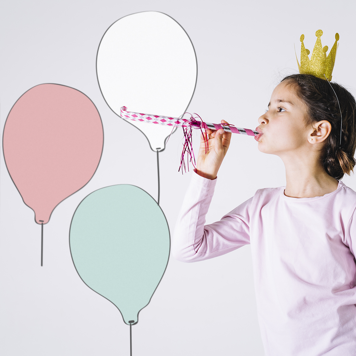 Balão branco princesa