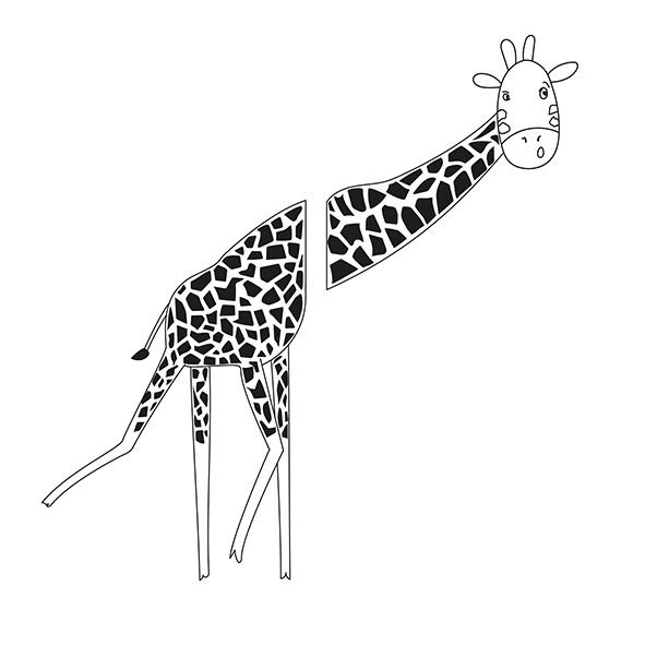 Girafa à espreita