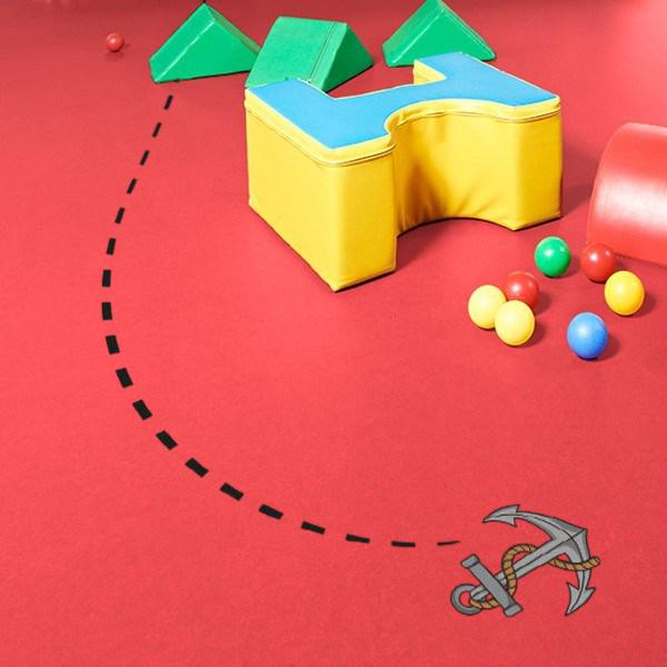 Decoração pavimento - âncora