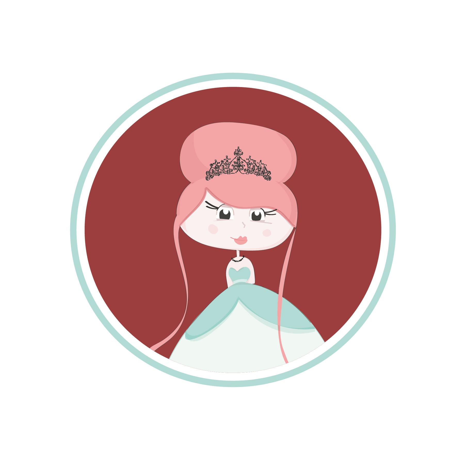 Sticker princesa