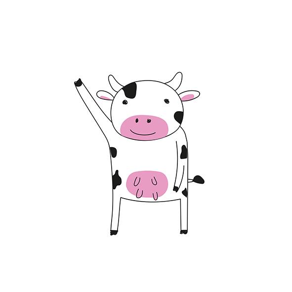 vaca a acenar