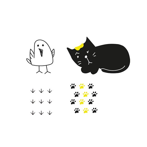 Gato e pássaro