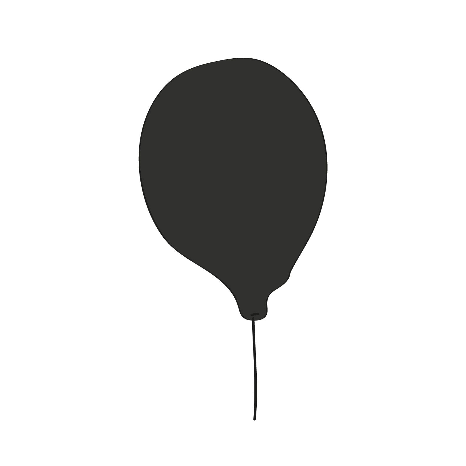 Balão preto super-herói