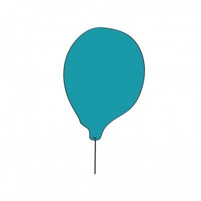 Balão azul super-herói