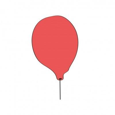 Balão vermelho super--herói