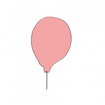 Balão rosa princesa