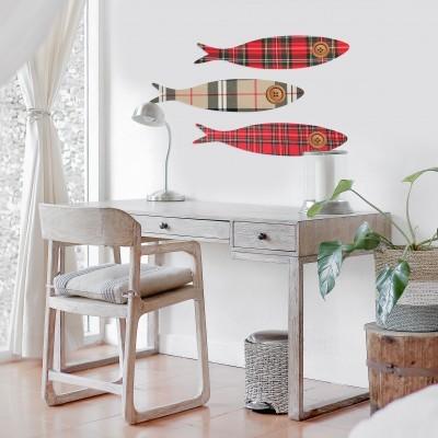 Conjunto de 3 sardinhas