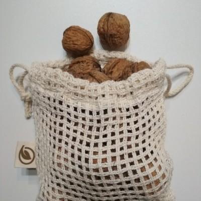Revenda - Saco de rede com cordão pequeno