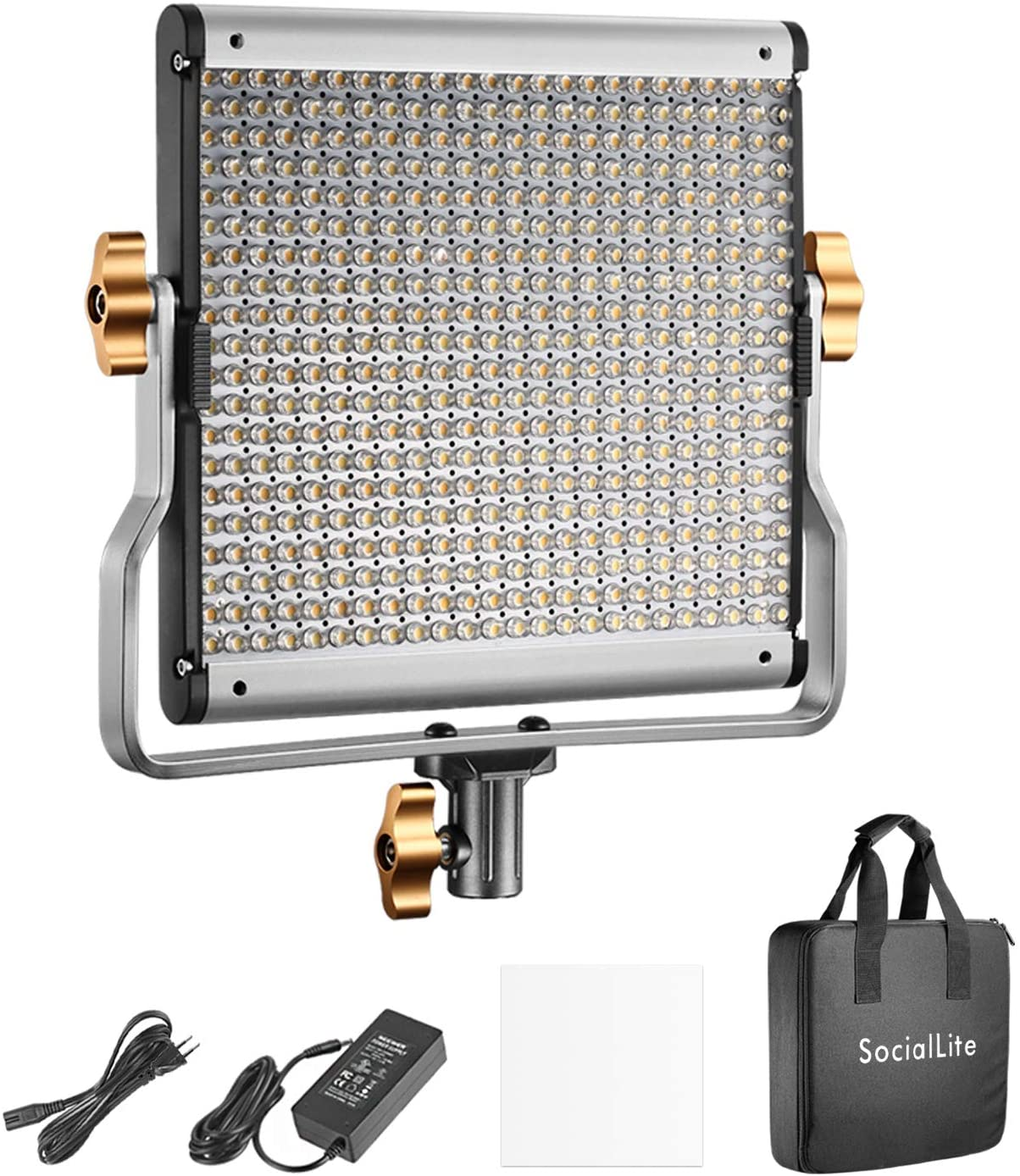 Luz de vídeo LED bicolor regulável SocialLite 480 Leds 3200K-5600K CRI 96 - KIT