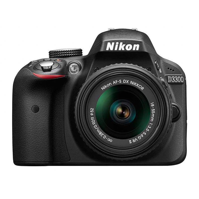 Nikon D3300 DSLR Preto + 18-55mm VR II - Kit aventura nikon