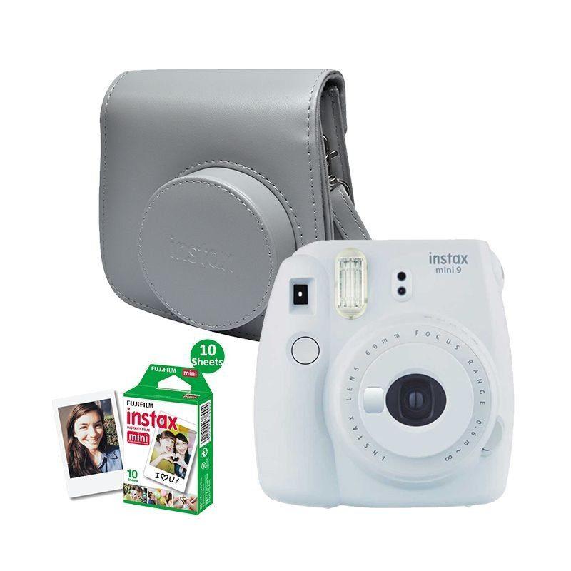 Fujifilm instax mini 9 - Branco Esfumado + 10 Foto