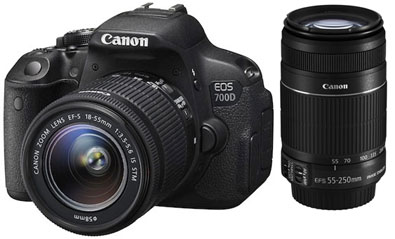 Canon EOS 700D + EF-S 18-55 IS STM + EF-S 55-250 IS II