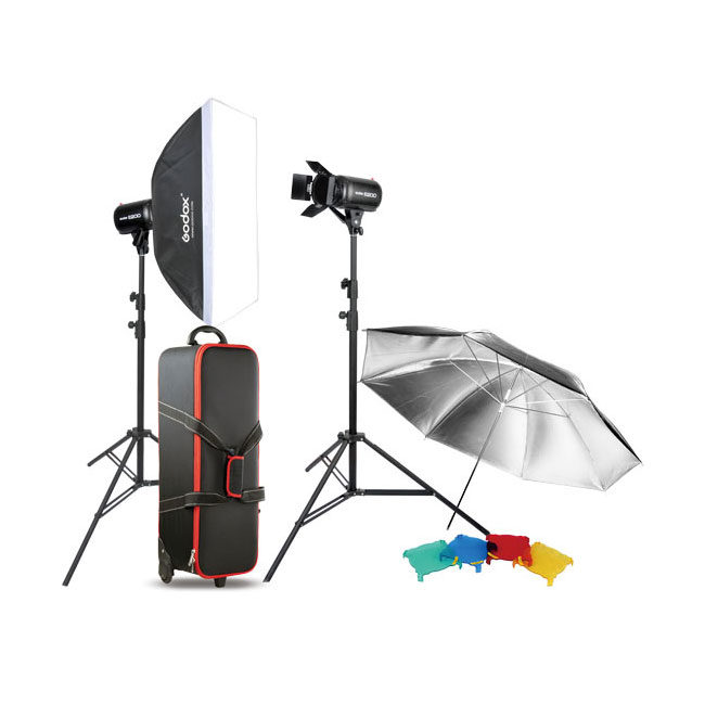 Kit de estúdio Godox E300-F