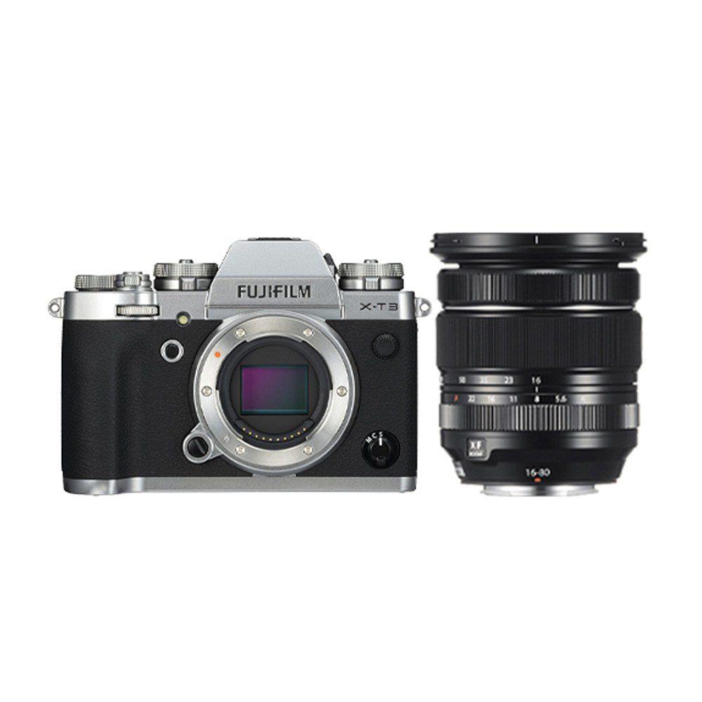 Fujifilm X-T3 Prata + 16-80mm f / 4.0 Preto