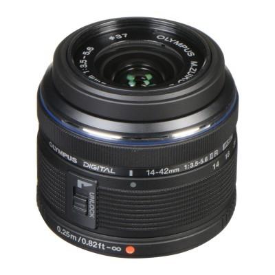 Câmera do sistema Olympus OM-D E-M10 Mark III Preta + 14-42 mm f / 3,5-5,6 II R + 40-150 mm f / 4,0-5,6 R