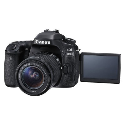 Canon EOS 80D DSLR + EF-S 18-55mm f/4.0-5.6 IS STM