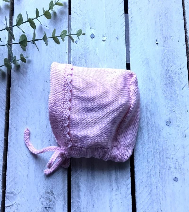 Touca lã rosa