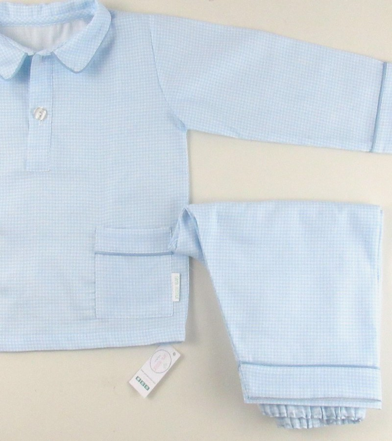 Pijama menino quadradinhos