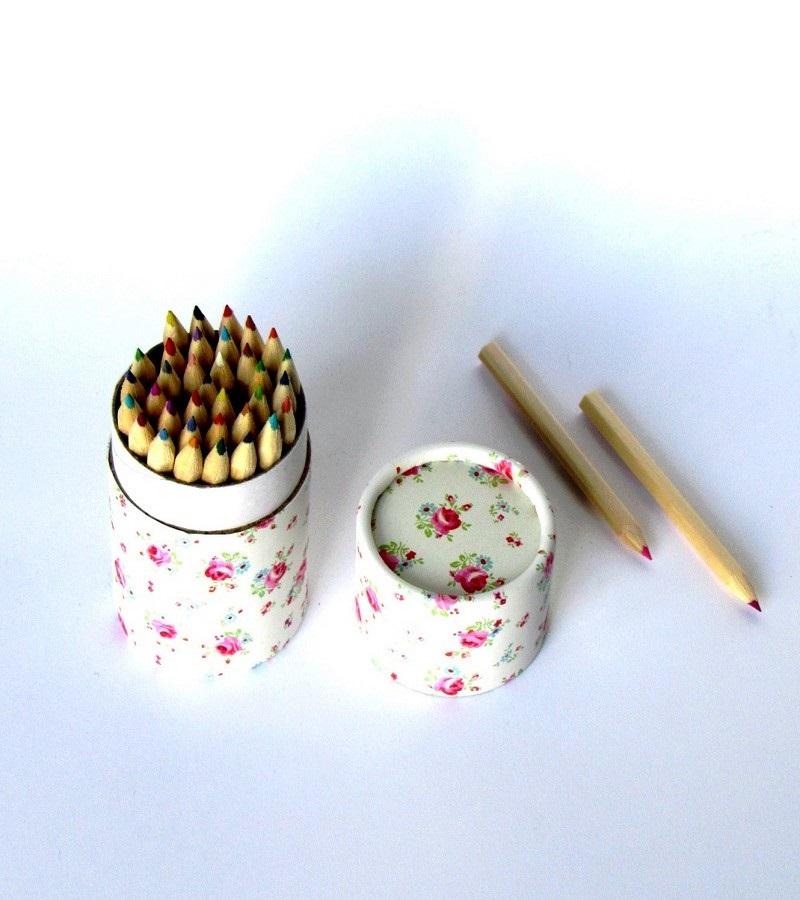 Lápis cor flores