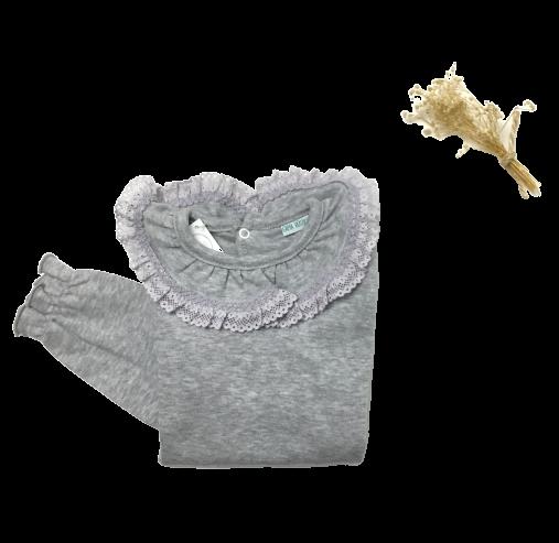 Camisola folho cinza