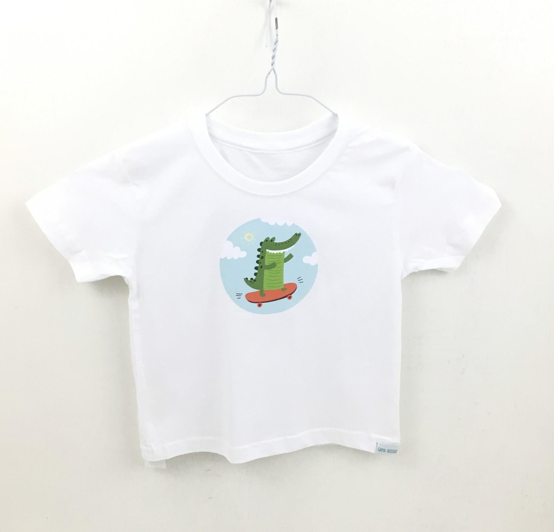 T-shirt crocodilo