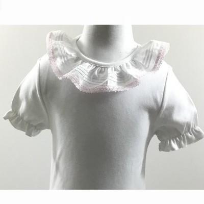 T-shirt folho renda rosa claro