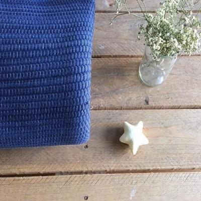 Tapete de algodão azul