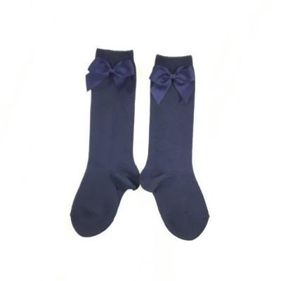 Meias laço - azul