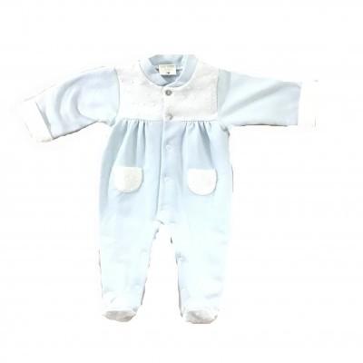 Babygrow azul bolinhas