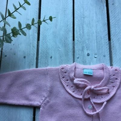 Casaco lã rosa Braga