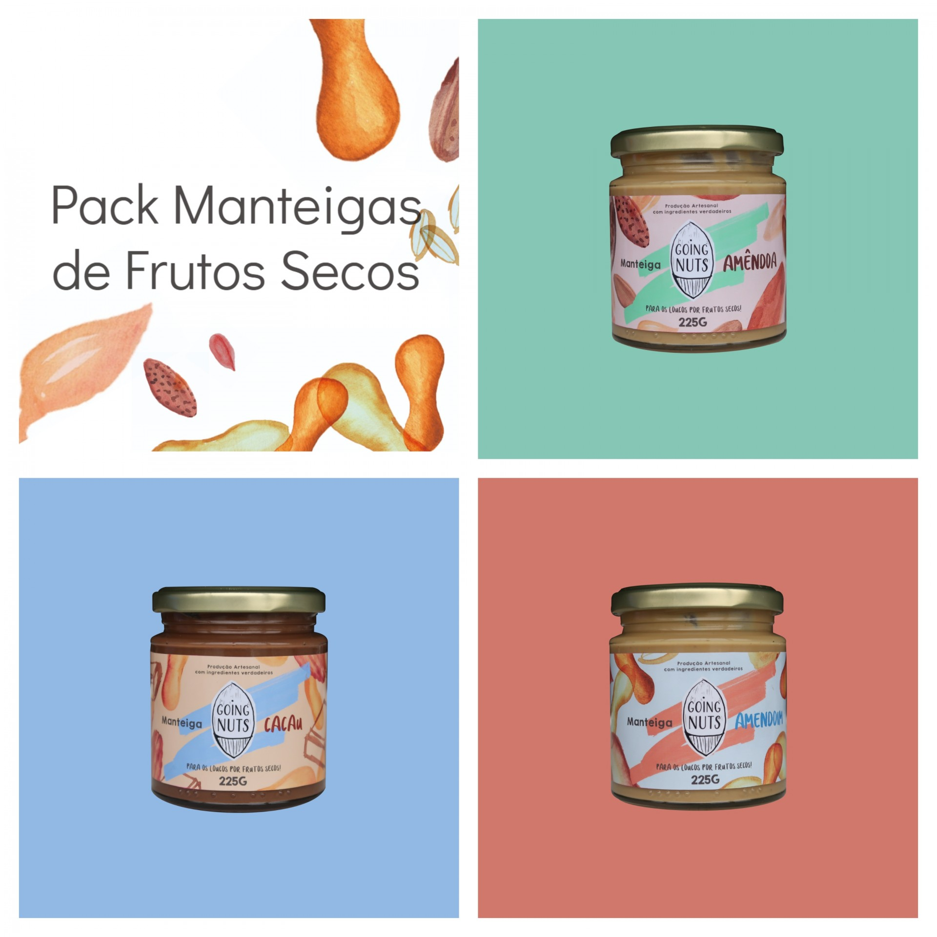Pack Manteigas de Frutos Secos