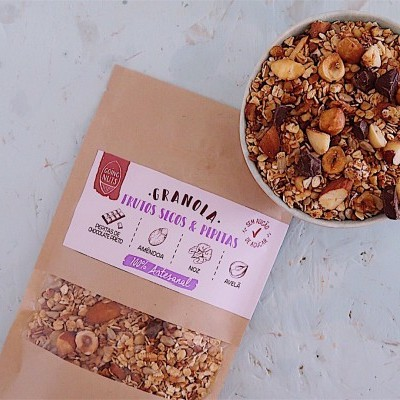 Granola Frutos Secos & Pepitas | 250 Gr.