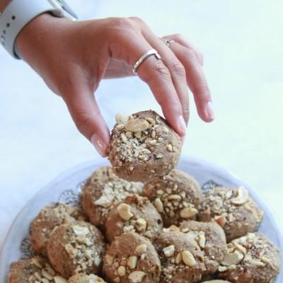 Biscoitos de amêndoa, avelã e caju