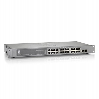"Switch LEVEL ONE 19"" 24FE PoE + 2 GE with 2 Combo SFP - FGP-2410"""
