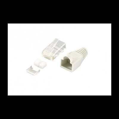 Conector RJ45 EQUIP UTP Cat 6 w/ boot rubber (100 pieces) - 121175