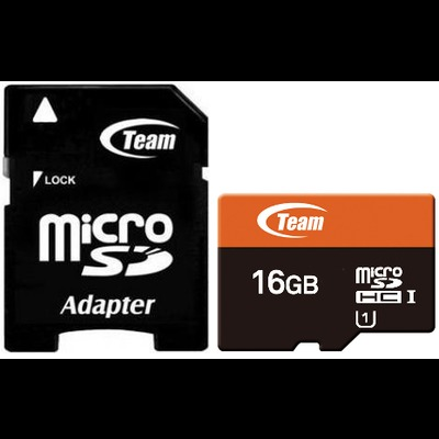 Micro SD Team Group 16GB class 10 /adapt - TUSDH16GUHS03