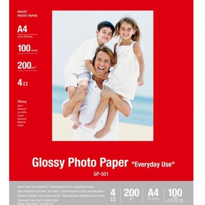 "Papel Glossy Photo ""Everyday Use"" A4, Cx. 100 Folhas, 210 grs - 0775B001"
