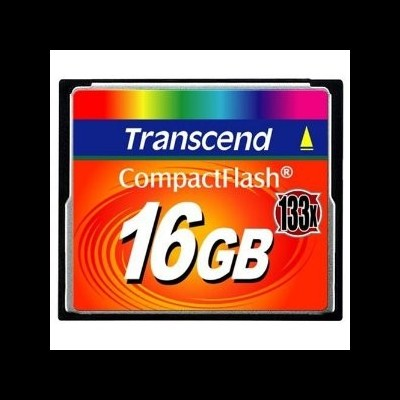Compact Flash Card TRANSCEND 16GB 133x -TS16GCF133